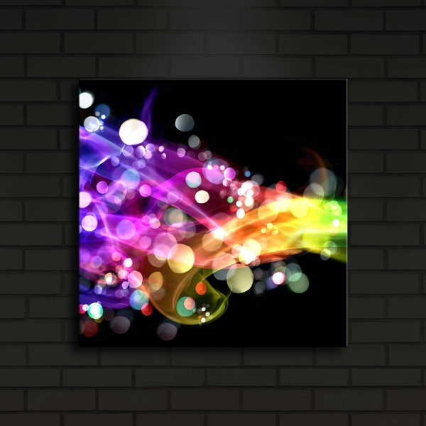 4040?ACT-21 Multicolor Decorative Led Lighted Canvas Painting