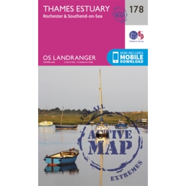 Thames Estuary, Rochester & Southend-on-Sea by Ordnance Survey (Sheet map, folded, 2016)