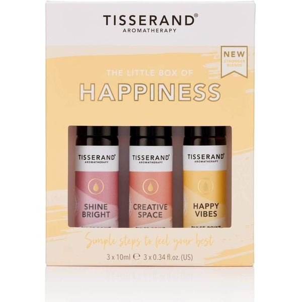 Tisserand Aromatherapy Little Box Of Happiness Roller Ball Kit (3x10ml)