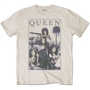 Queen - Vintage Frame Men's XX-Large T-Shirt - Sand