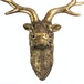 Stag Deer Head Wall Sculpture | M&W Gold - Image 4