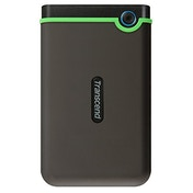 Transcend 4 TB Slim StoreJet 25M3S, Rugged External Hard Drive with Excellent Anti-Shock Protection and Lightning-Fast Transfer Speeds, Iron Grey