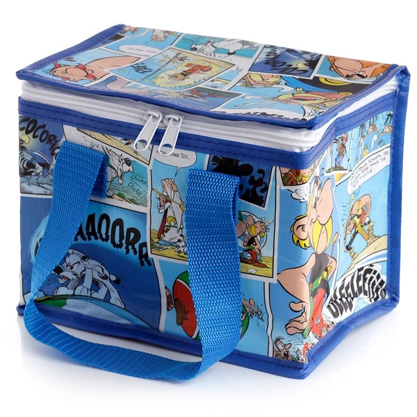 Recycled Plastic Reusable Woven Cool Bag Lunch Box - Asterix Comic Strip