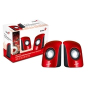 Genius SP-U115 Stereo USB Powered Speakers Red