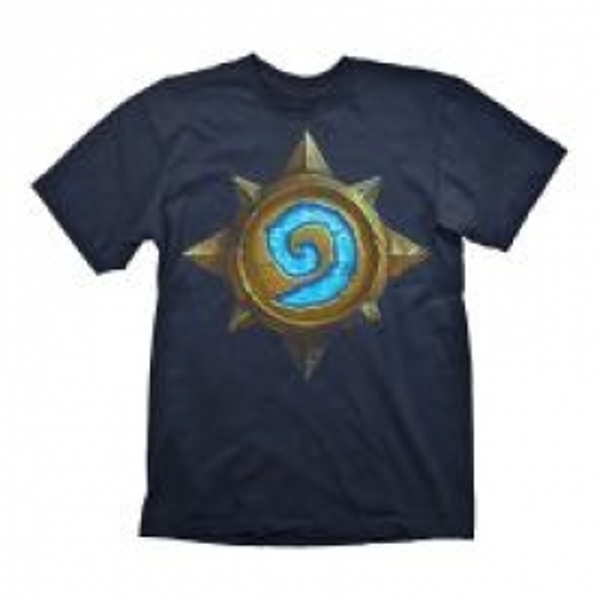 HEARTHSTONE Heroes of Warcraft Men's Rose Logo T-Shirt, Medium, Dark Blue