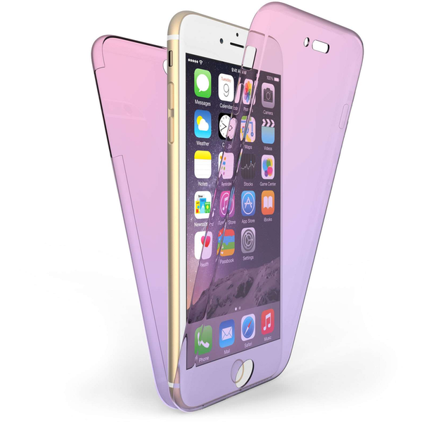 Compare prices with Phone Retailers Comaprison to buy a Apple iPhone 6 / 6S Plus Full Body 360 TPU Gel Case Pink / Purple