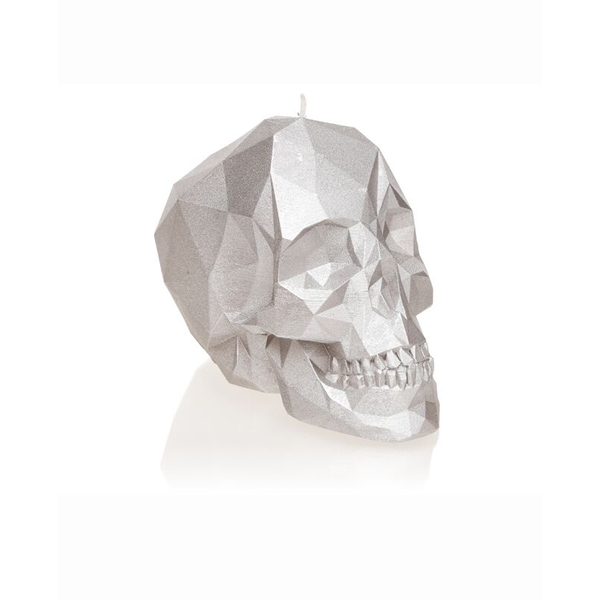 Silver Small Low Poly Skull