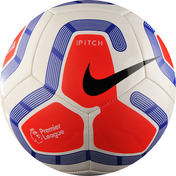 Nike Pitch Premier League 19/20 Football White/Red Size 5