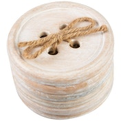 Wooden Button (Set of 6) Coasters