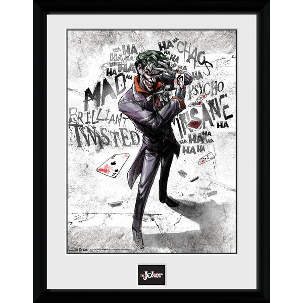 Batman Comic Joker Type Framed Collector Print