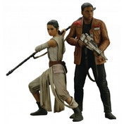 Star Wars Episode VII Rey & Finn Art FX+ Statue 2 Pack
