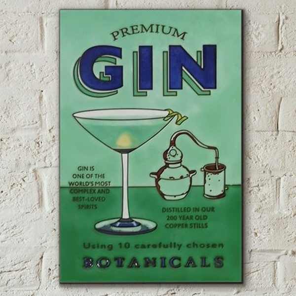 Gin Tile 8x12 by M.Wiscombe Wall Art