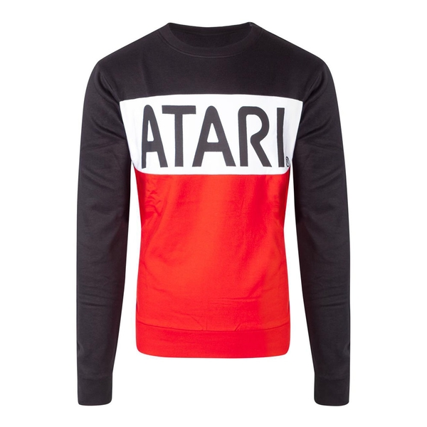 Atari - Cut & Sew Men's Large Sweatshirt - Multi-Colour