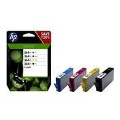 HP [HP] No. 364XL Ink Cartridges Page Life Black 550pp CMY 750pp Colour Ref N9J74AE [Pack 4]