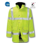 Black Knight Large Rapier High Visibility Breathable 3/4 Jacket - Yellow