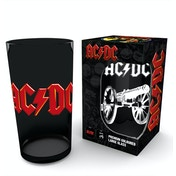 AC/DC Logo Cannon Coloured Glass Premium Large Glass