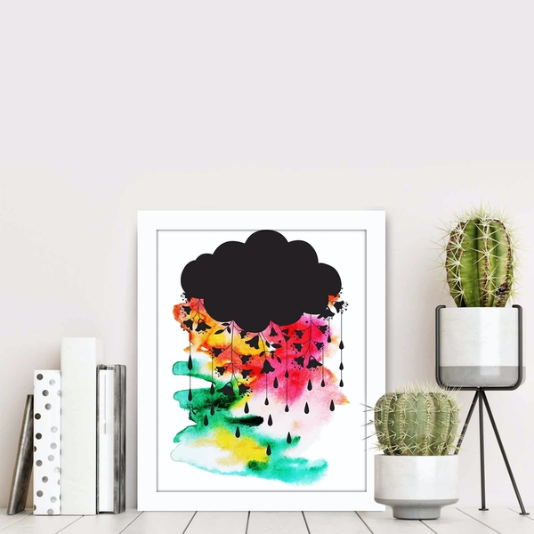 BCT-018 Multicolor Decorative Framed MDF Painting
