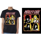 Motley Crue - Shout at the Devil Flames Men's Medium T-Shirt - Black