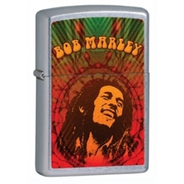 Zippo Bob Marley Street Chrome Windproof Lighter - Image 1