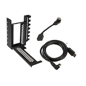 CableMod Vertical Graphics Card Holder with PCIe x16 Riser Cable 1 x DisplayPort 1 x HDMI - Black