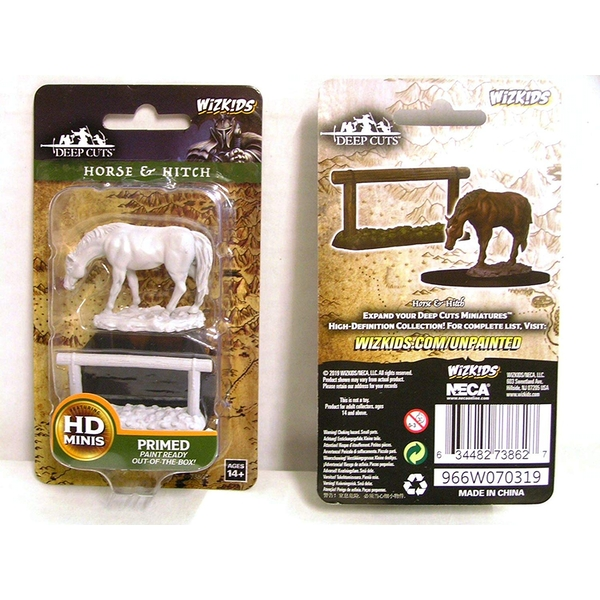 WizKids Deep Cuts Unpainted Miniatures -  Horse & Hitch