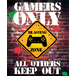 Gamers Only Controller Keep Out Mini Poster - Image 2