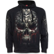 Death Bones Side Pocket Men's Large Hoodie - Black