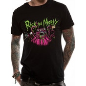 Rick And Morty - Monster Slime Men's XX-Large T-Shirt - Black