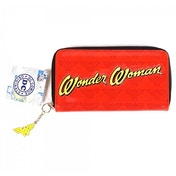 Wonder Woman Retro Large Patent Zipper Purse