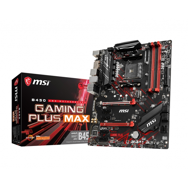 MSI B450 GAMING PLUS MAX motherboard Socket AM4 ATX AMD B450