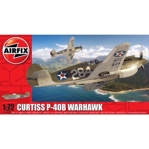 Curtiss P-40B Warhawk 1:72 Series 1 Air Fix Model Kit
