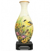 Goldfinches & Flowers Puzzle 3D Vase Jigsaw