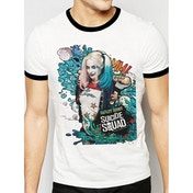 Suicide Squad - Grafitti Harley Men's Medium T-Shirt - White