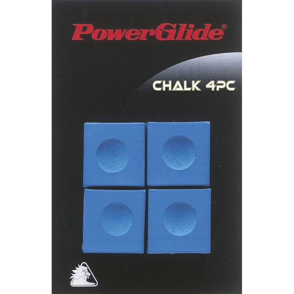 Powerglide Snooker Chalk (4 Pack) Blue