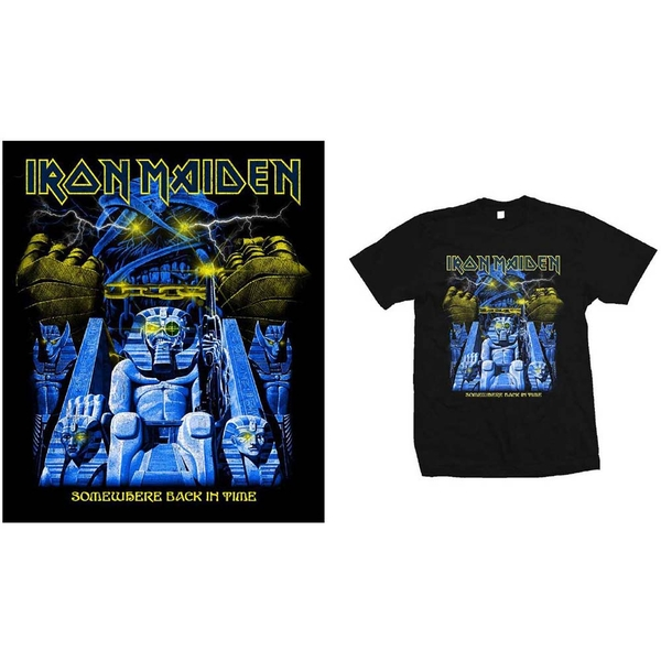 Iron Maiden - Back in Time Mummy Men's Large T-Shirt - Black