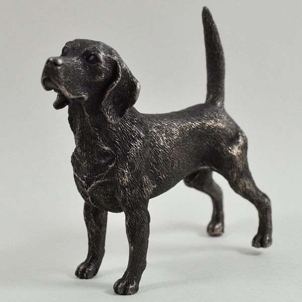 Beagle Standing Cold Cast Bronze Sculpture 9cm