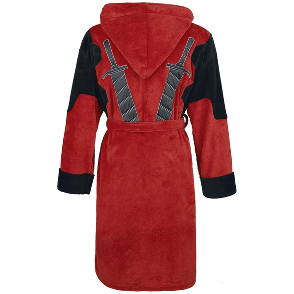 Deadpool Official Marvel Fleece Adult Dressing Gown Bathrobe - One Size - Image 2