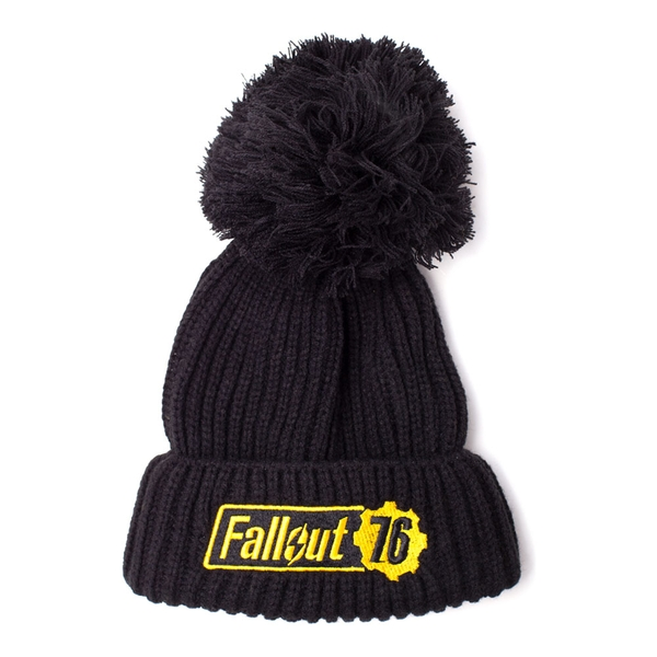 Fallout - Embroidered Logo Unisex One Size Beanie - Black