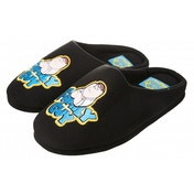 Family Guy Peter Mens Mule Black Slippers Size 9-10