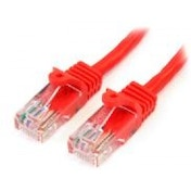 StarTech 3m Cat5e Red Snagless RJ45 UTP Cat 5e Patch Cable - 3m Patch Cord