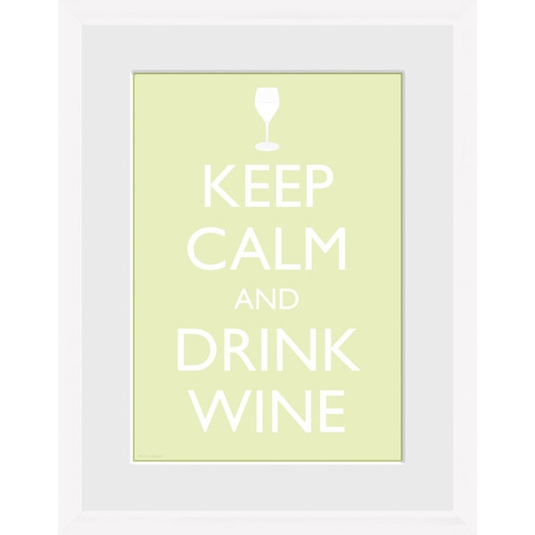 Keep Calm and Drink Wine Framed Photographic Print