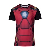 Iron Man Suit Sublimation Men's Large T-Shirt - Red