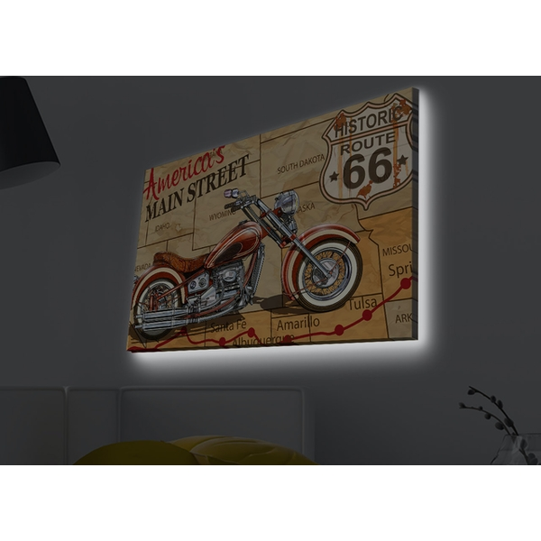 4570MDACT-011 Multicolor Decorative Led Lighted Canvas Painting