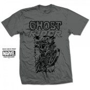 Marvel Comics Ghost Rider Simple Mens Grey T Shirt Small