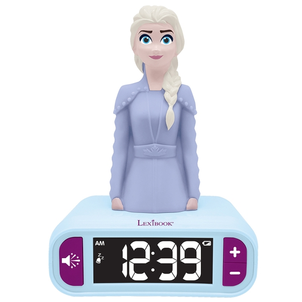 Lexibook RL800FZ Disney Frozen II Night Light Radio Alarm Clock