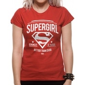 Supergirl - Stronger Faster Women's X-Large Fitted T-Shirt - Red