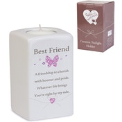 Said with Sentiment Ceramic Tea Light Holders Best Friend