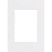 Premium Passe-Partout White 40x50cm for an image section of 30x40cm