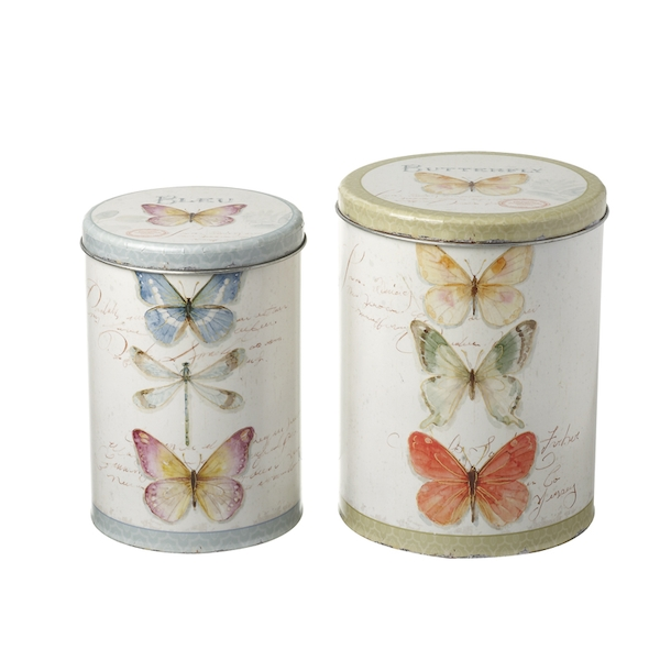 Butterfly Cannister Set of 2 By Heaven Sends