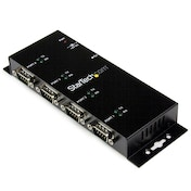 4 Port USB to DB9 RS232 Serial Adapter Hub     Industrial DIN Rail and Wall Mountable